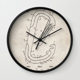 Rock Climbing Patent - Climber Art - Antique Wall Clock