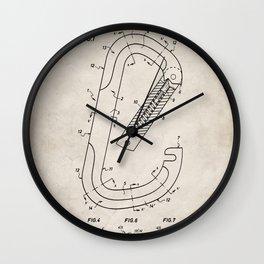 Rock Climbing Patent - Climber Art - Antique Wall Clock