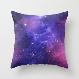 Purple Space Nebula Throw Pillow