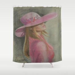 Lady in the hat Shower Curtain