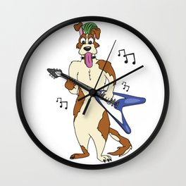 Jammin' Dog Wall Clock