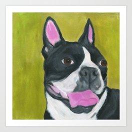 Smile Boston Terrier Art Print