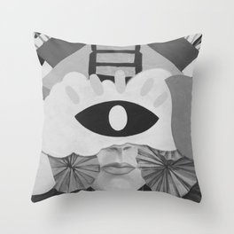 What is Art? (Black and White) Throw Pillow