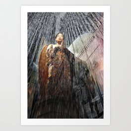 The Angel at the Heart of the Rain Art Print