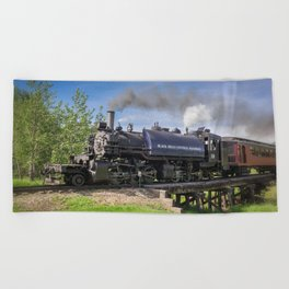 Full Steam Ahead Beach Towel