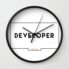 Developer stickers 2 in 1 Wall Clock
