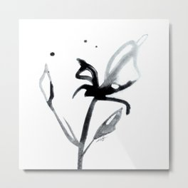 Brushstroke Floral No. 14 by Kathy Morton Stanion Metal Print