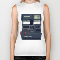 polaroid Biker Tanks featuring Polaroid by Brieana