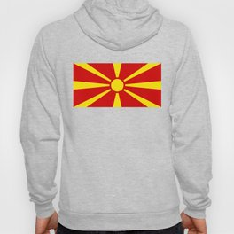 Flag of Macedonia - authentic (High Quality image) Hoody
