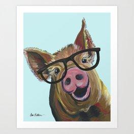 Cute Pig, Pig Art, Farm Animal Art Print
