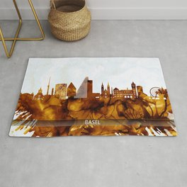 Basel Switzerland Skyline Rug