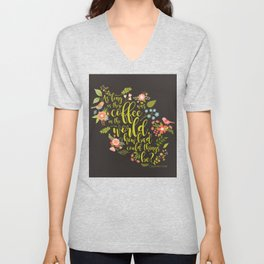 As long as there was coffee...Clary Fray. The Mortal Instruments Unisex V-Neck