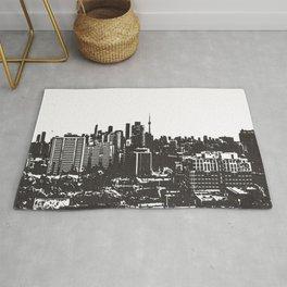 Toronto Skyline BW Rug