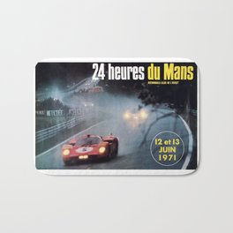 Le Mans, 24hs Le Mans 1971, original vintage poster, Le mans poster Bath Mat
