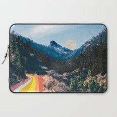 1960's Style Mountain Collage Laptop Sleeve