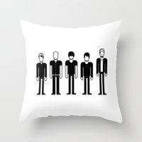 radiohead Throw Pillows featuring Radiohead by Band Land