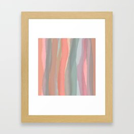 Peachy Watercolor Framed Art Print