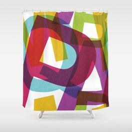 Crossletters Patterns Shower Curtain