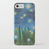 fireflies iPhone & iPod Cases featuring Fireflies by Kristen Fagan