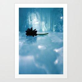 Flower On Ice Art Print
