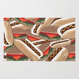 Hot Dogs And Hamburgers Rug