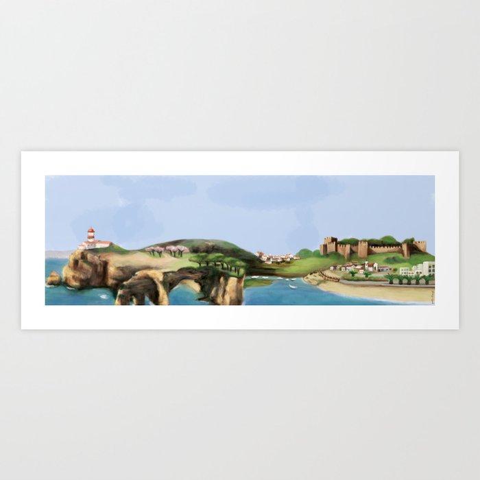 Algarve landscape Art Print