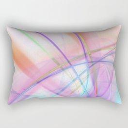 Atmospheric - Colorful Abstract Art Rectangular Pillow
