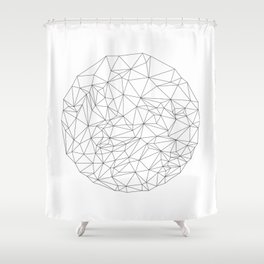 Geometric Circle Shower Curtain