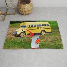 School Bus Mailbox Rug