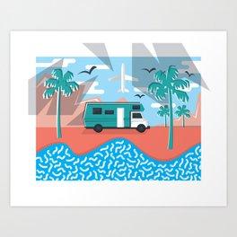 LA Real Estate Art Print