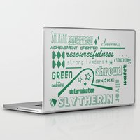 slytherin Laptop & iPad Skins featuring Slytherin by husavendaczek