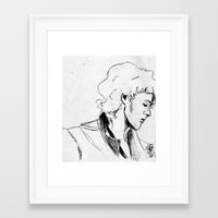 enjolras Framed Art Prints featuring Enjolras by Pruoviare