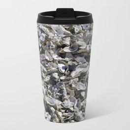 Shucked Oyster Shells Metal Travel Mug