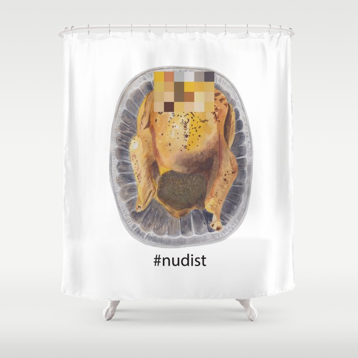 Nudist Turkey Shower Curtain