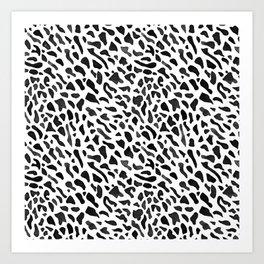 Fan Coral Pattern - Black Art Print