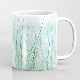 Field of grass in a fresh spring morning Coffee Mug