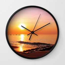 Late at the ocean, Germany Wall Clock