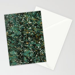 Winter Themed Green Pattern Stationery Cards