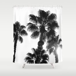 Palm Tree Art Print {3 of 3}   B&W Topical Beach Plant Nature Vacation Sun Vibes Artwork Shower Curtain