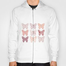 Mixed berry marble butterflies Hoody