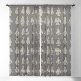 Arrow Heads Sheer Curtain