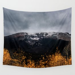 Yellow Tree Moutain Wall Tapestry