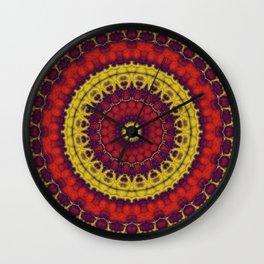 Mandala Fractal in Indian Summer 01 Wall Clock