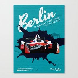 Mahindra Racing FIA Formula E Season Three Race 07 08 Berlin ePrix Poster Canvas Print