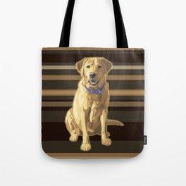 Happy Yellow Labrador Retriever Retro Tote Bag