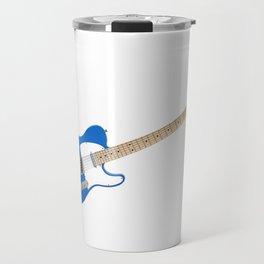Blue Electric Guitar Travel Mug
