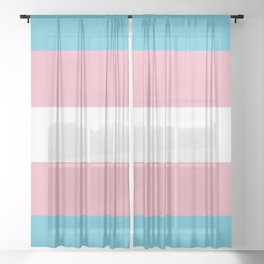 Trans Pride Sheer Curtain