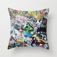los angeles Throw Pillows featuring LOS ANGELES by Brandon Neher