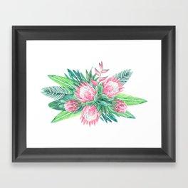 protea composition Framed Art Print