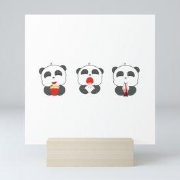 Hungry Pandas Mini Art Print